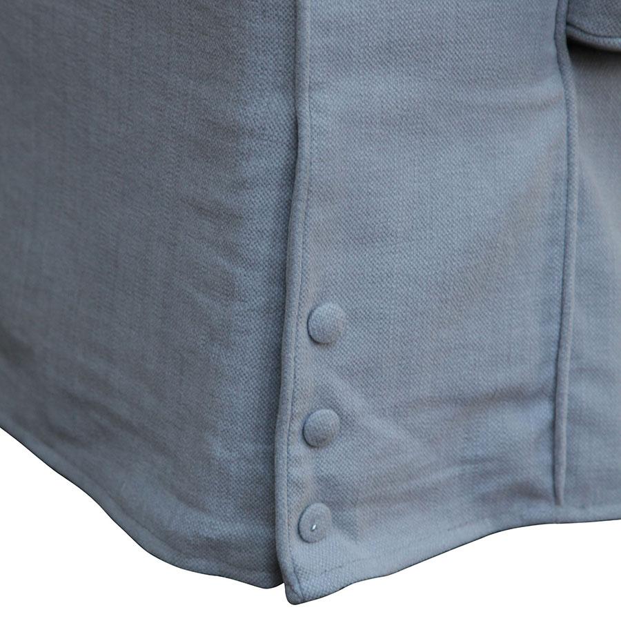Canapé 4 places gris en tissu - Newport