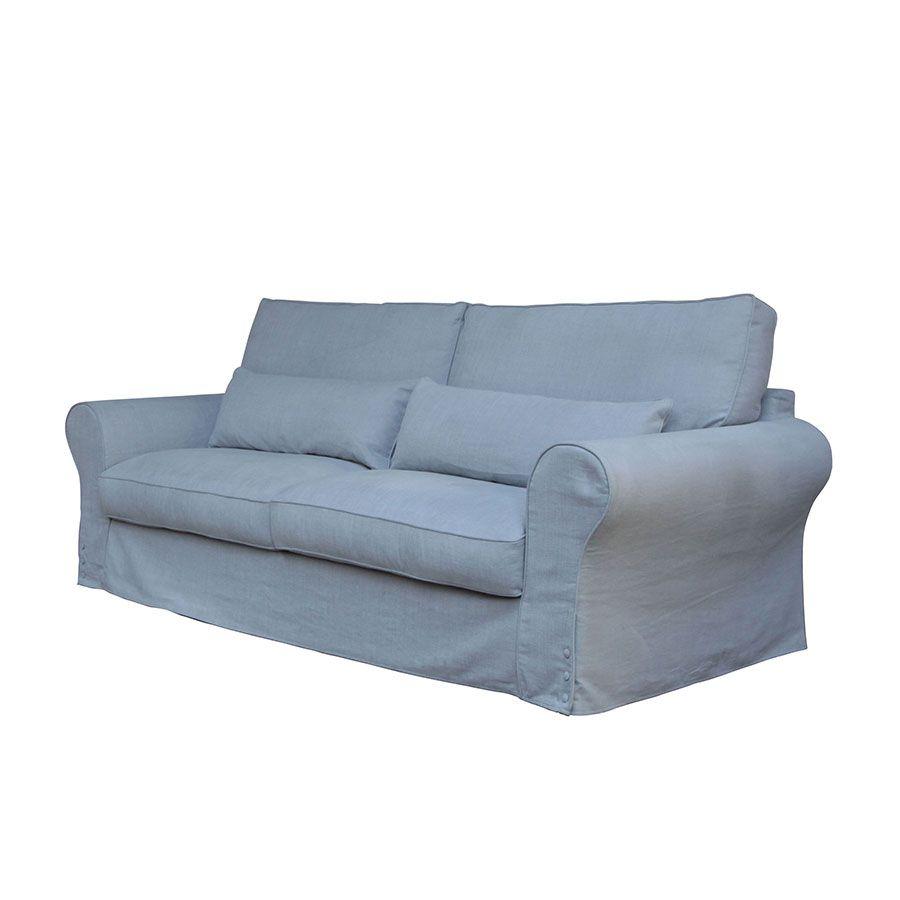 Canapé 4 places en tissu gris - Newport