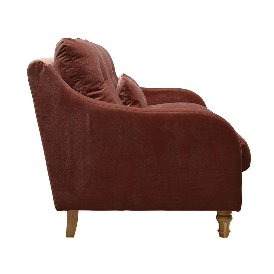 Canapé 4 places en tissu terre cuite - Vendôme