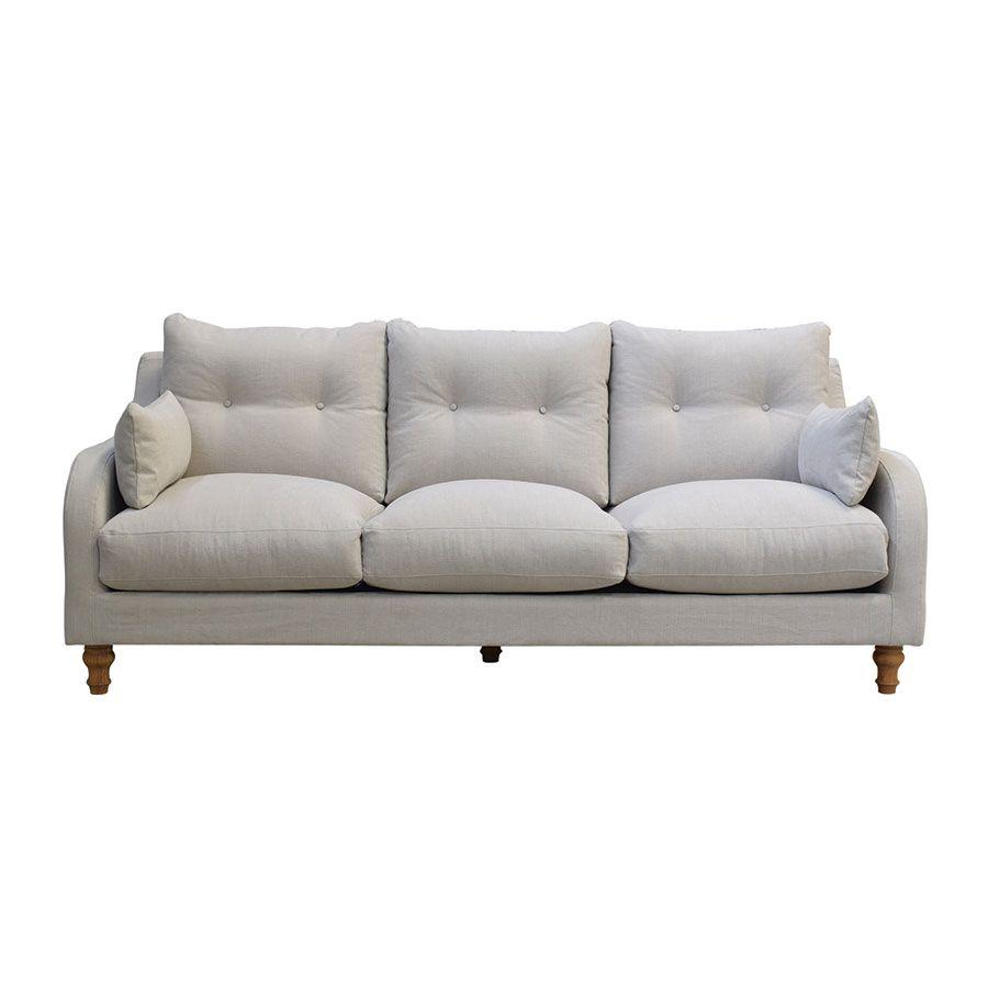 Canapé 4 places en tissu gris  - Vendôme