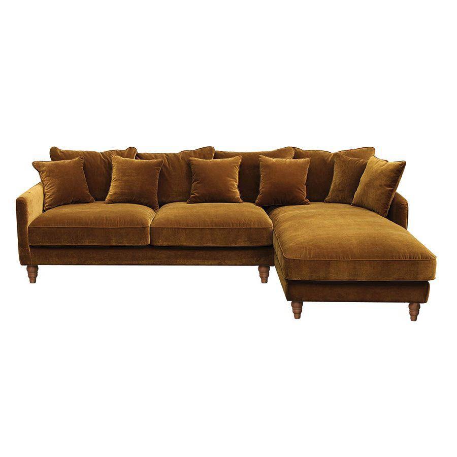 Canapé d'angle Velours Contemporain Confort