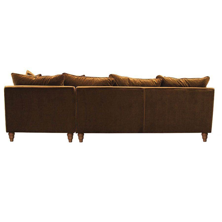 Canapé d'angle en velours bronze - Rivoli