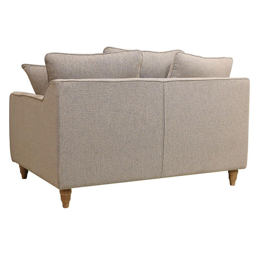 Canapé 2 places en tissu beige - Rivoli