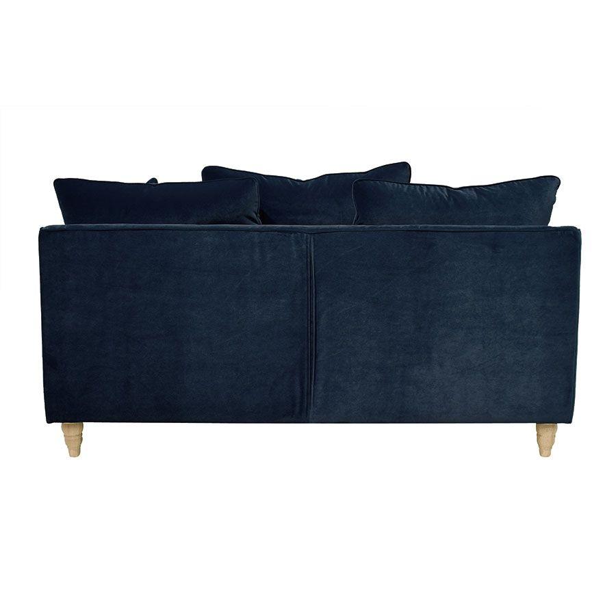 Canapé 3 places en velours bleu paon - Rivoli