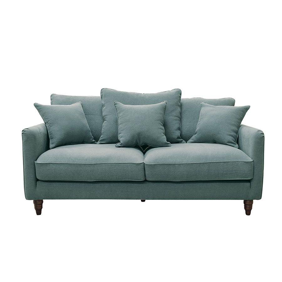 Canapé 3 places en tissu céladon - Rivoli
