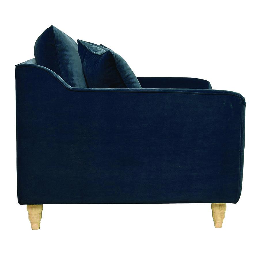 Fauteuil en velours bleu paon - Rivoli Love Seat
