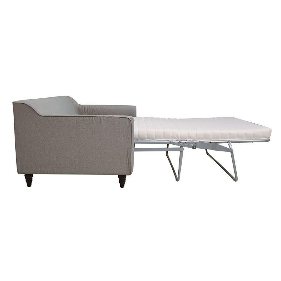 Canapé convertible 3 places en lin froissé gris clair - Rivoli