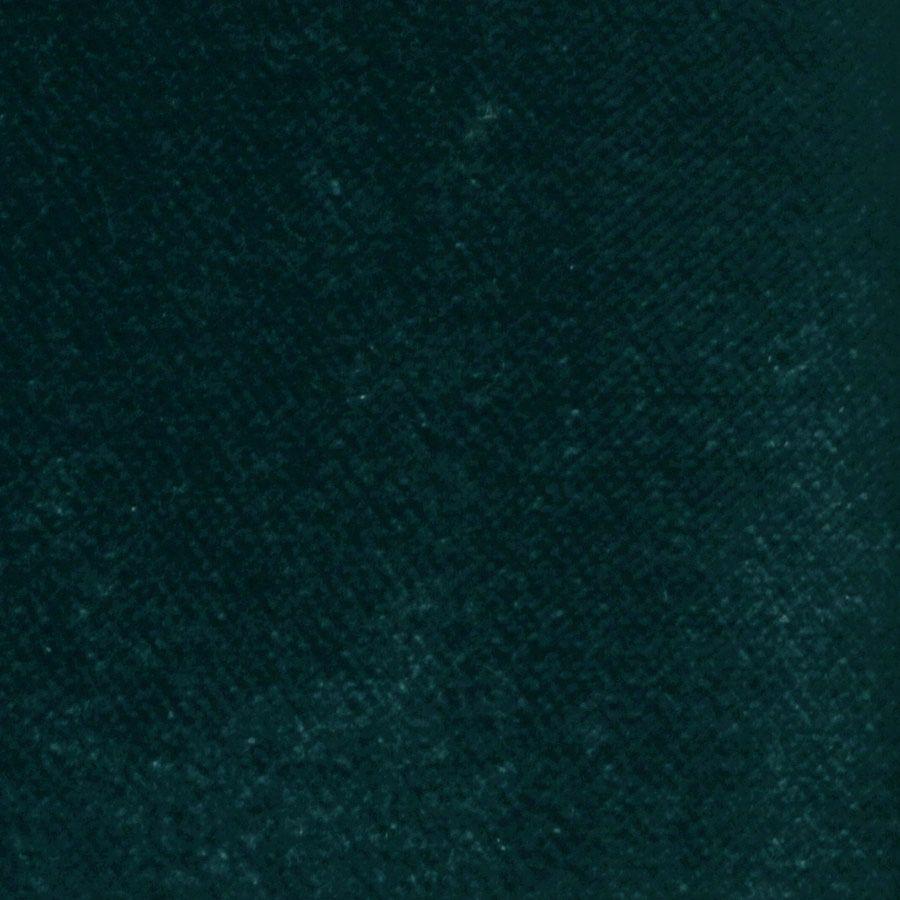 Pouf en velours bleu paon - Rivoli