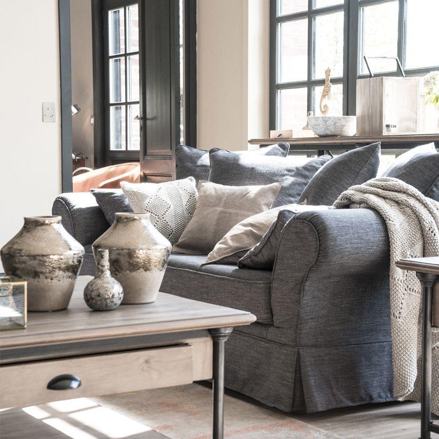 Canapé gris 3 places en tissu - British