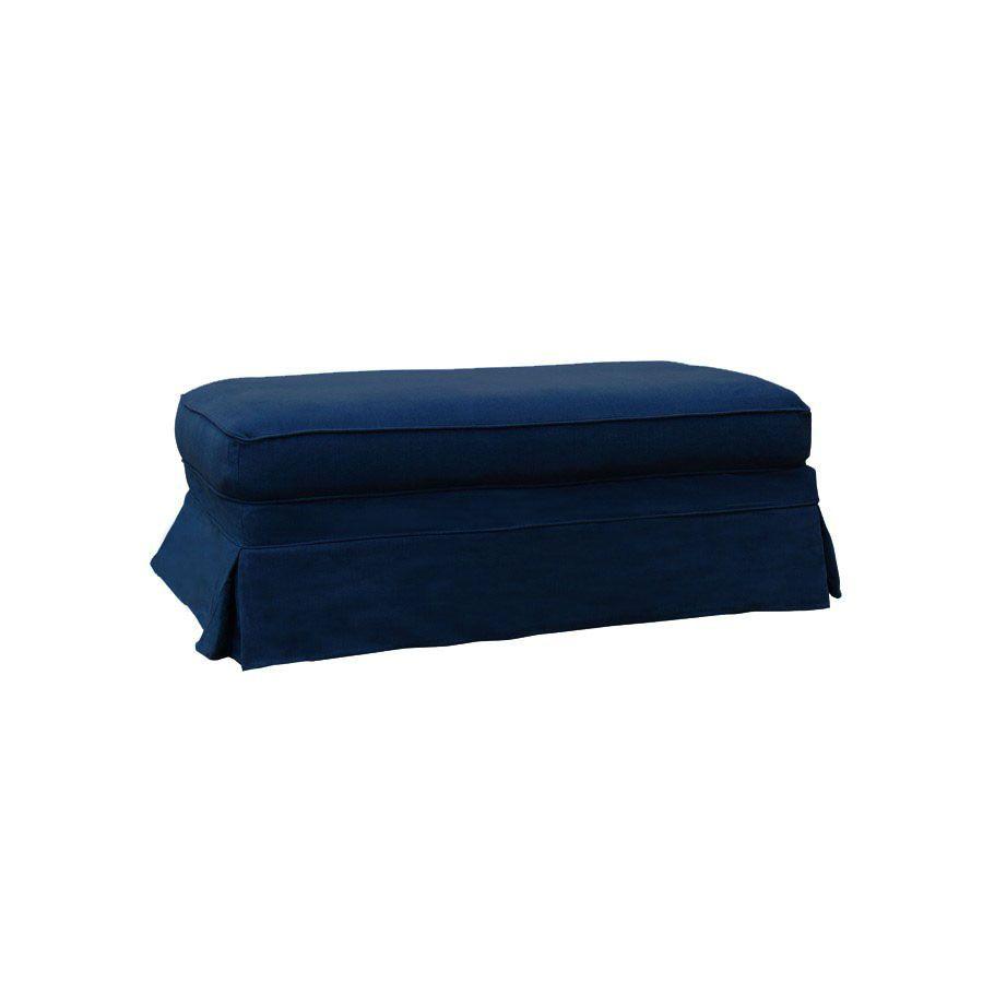 Pouf en tissu bleu foncé - British Love Seat