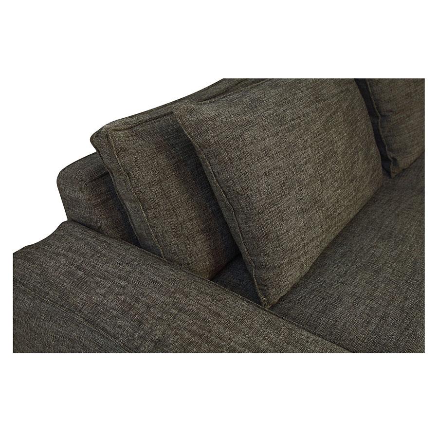 Canapé XL 4 places en tissu Marron - Hudson