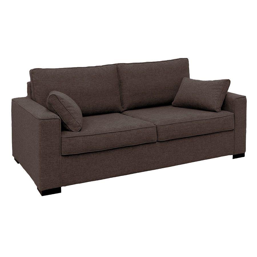 Canapé 3 places en tissu marron clair - Malcolm