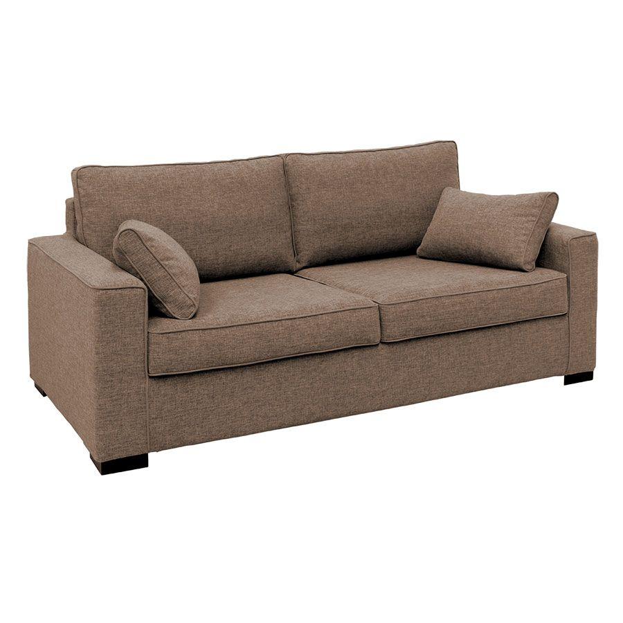 Canapé 3 places en tissu taupe - Malcolm