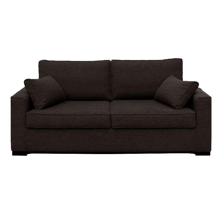 Canapé convertible 3 places en tissu gris chiné - Malcolm
