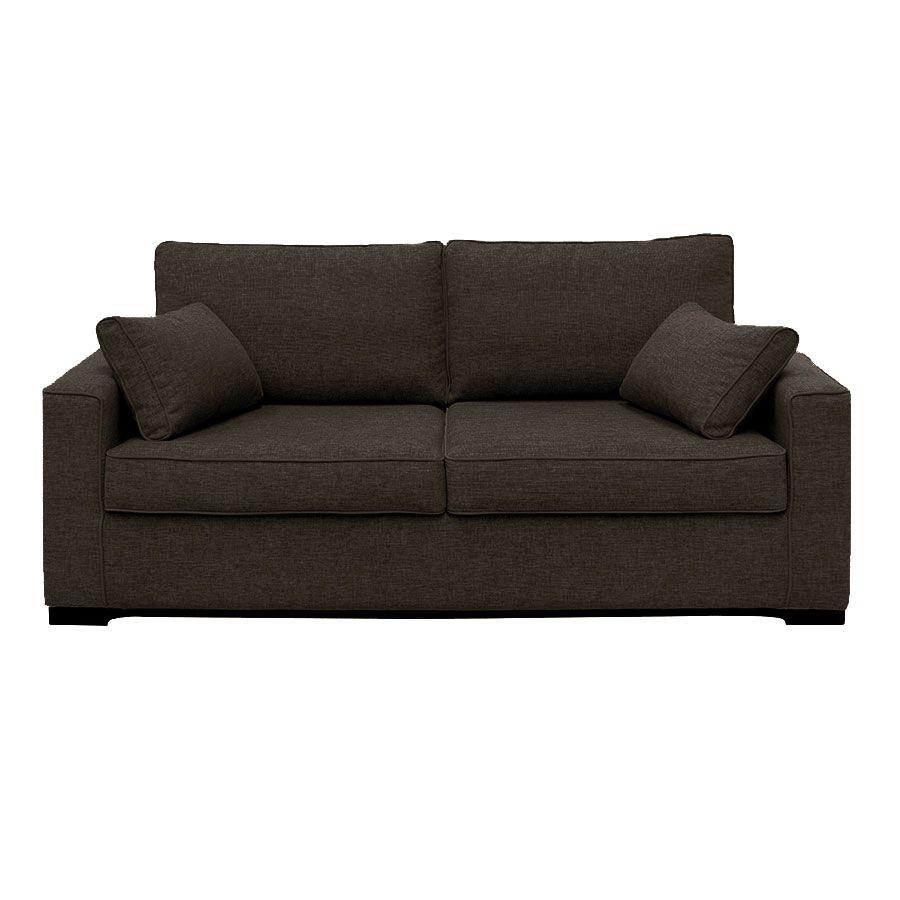 Canapé convertible 3 places en tissu gris - Malcolm