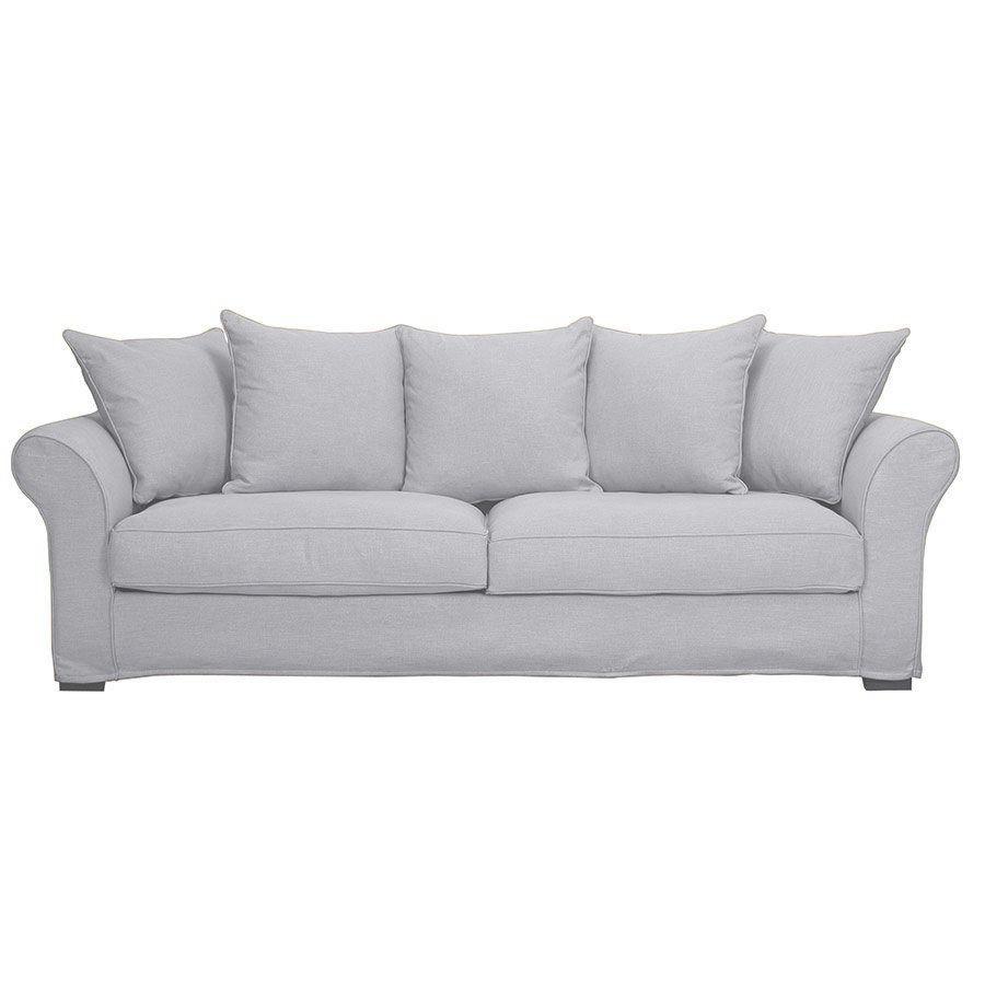 Canapé 4 places gris en tissu - Melbourne