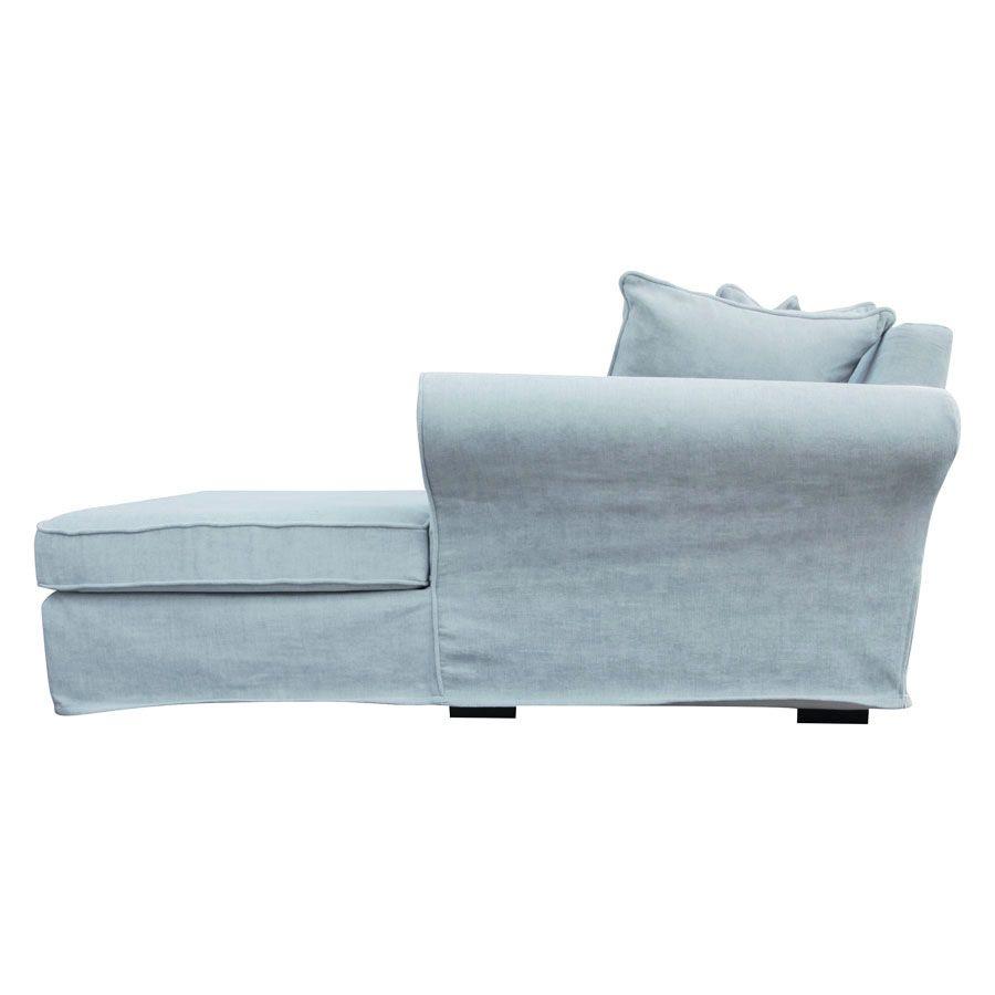 Canapé d'angle 5 places en tissu bleu - Melbourne