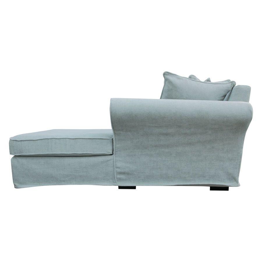 Canapé d\'angle convertible 5 places en tissu bleu - Melbourne