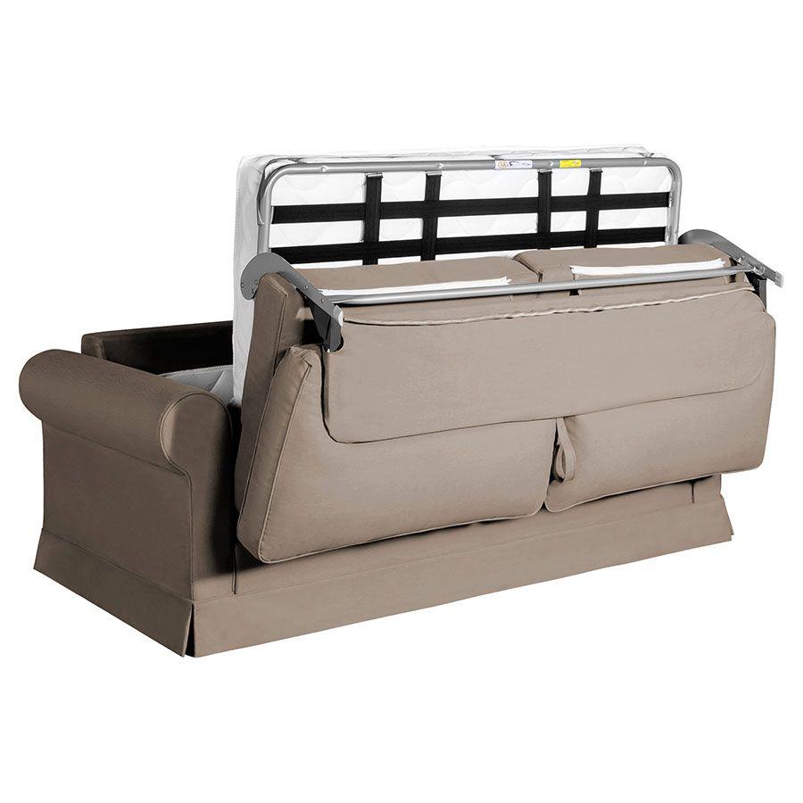 Canapé convertible 3 places en tissu beige - Montana
