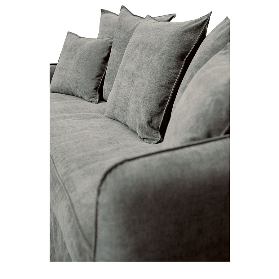Canapé 4 places en tissu gris - Bilbao