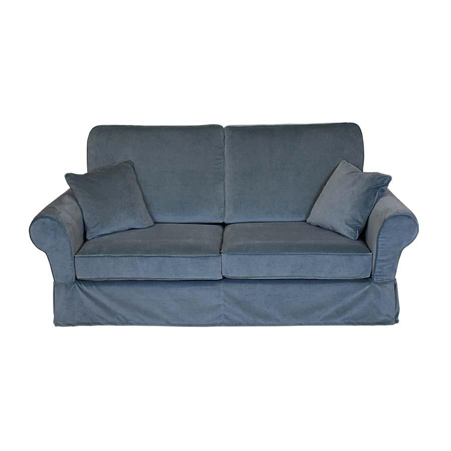Canapé 2 places en tissu gris - Harold