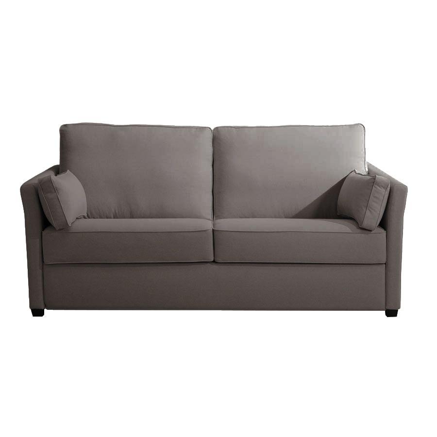 Canapé 3 places taupe en tissu - Lewis