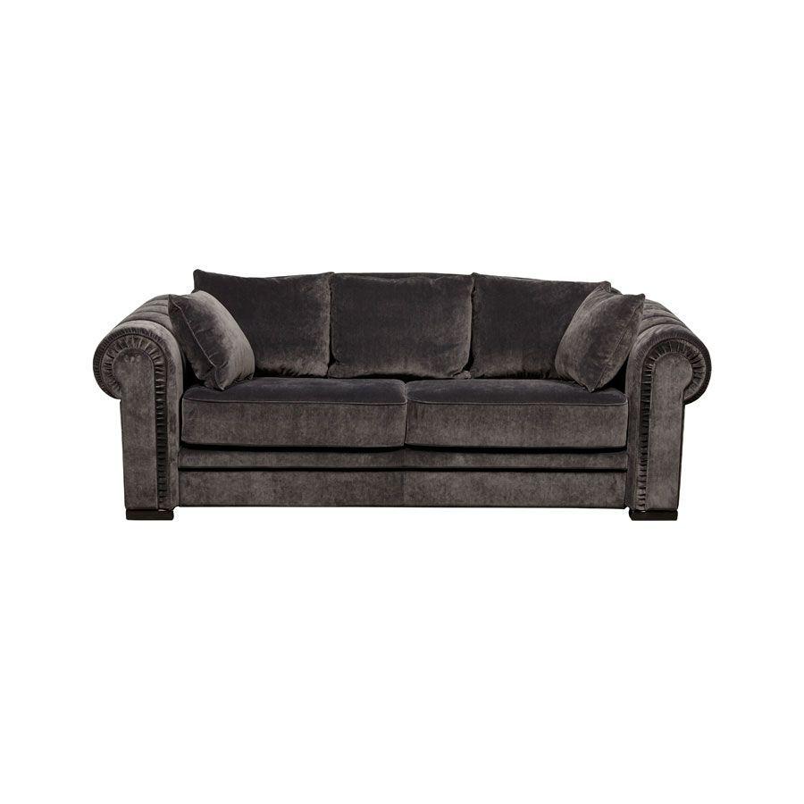 Canapé 2 places en tissu gris anthracite - Bellagio