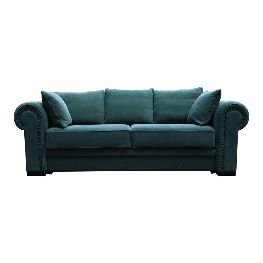 Canapé 2 places en tissu vert - Bellagio