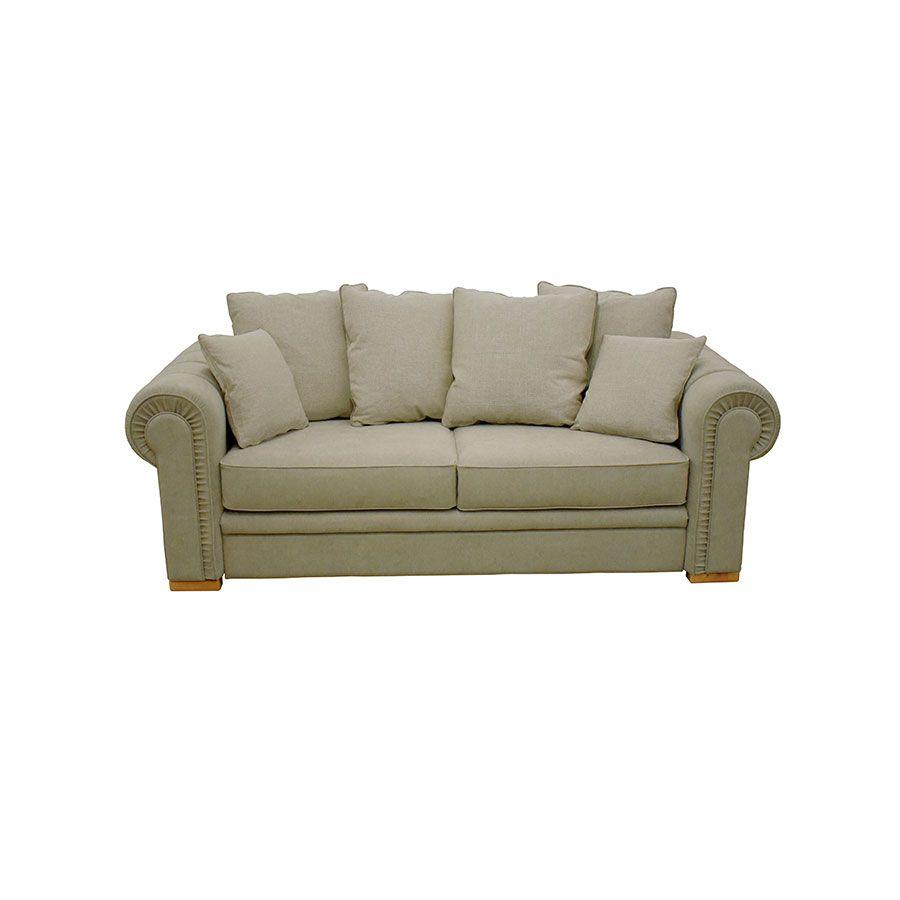 Canapé 3 places en tissu kaki - Bellagio