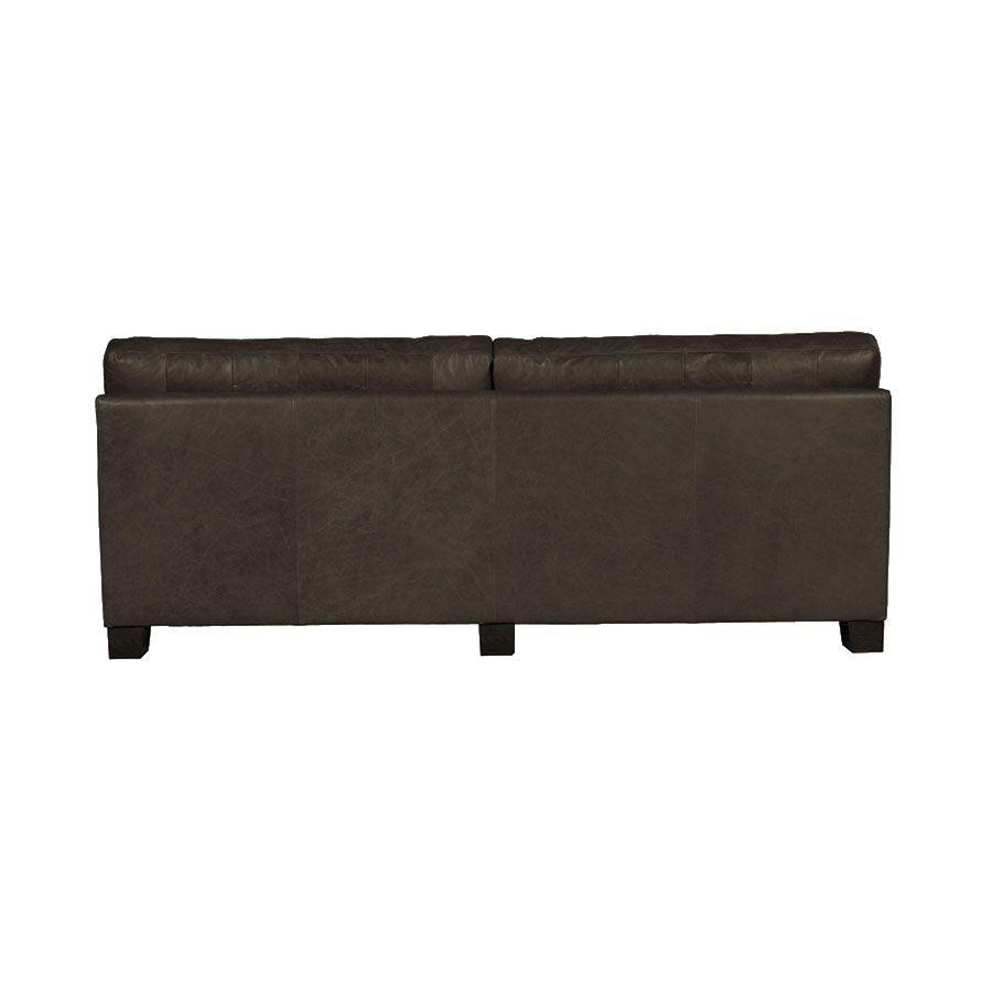 Canapé en cuir 3 places noir vieilli - Canberra