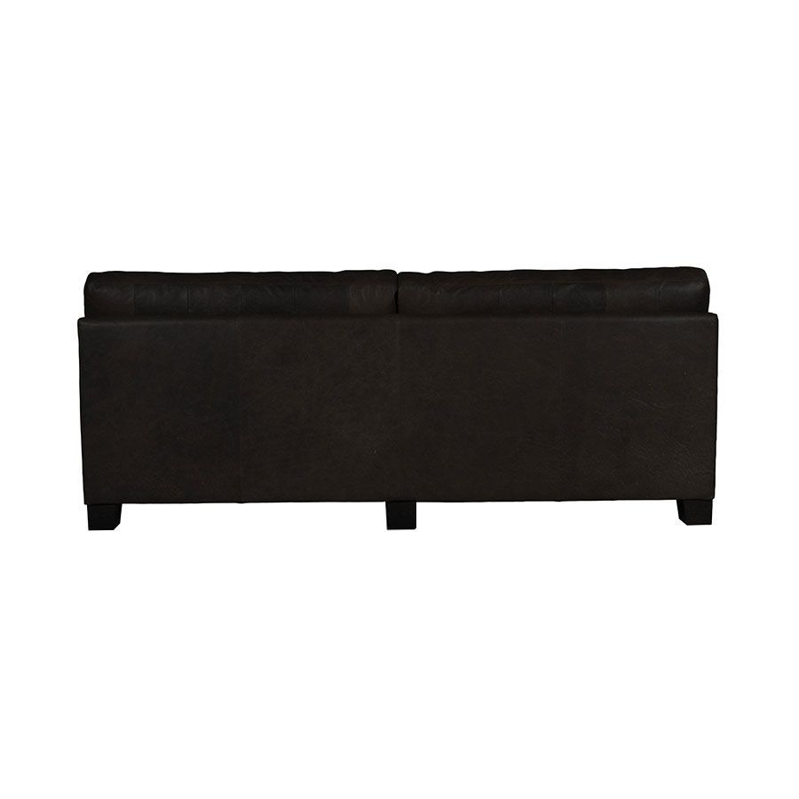 Canapé en cuir 3 places noir - Canberra