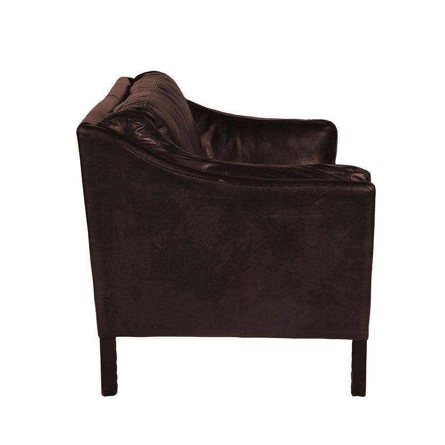 Canapé en cuir 2 places Marron Antic Tobacco - Darwin