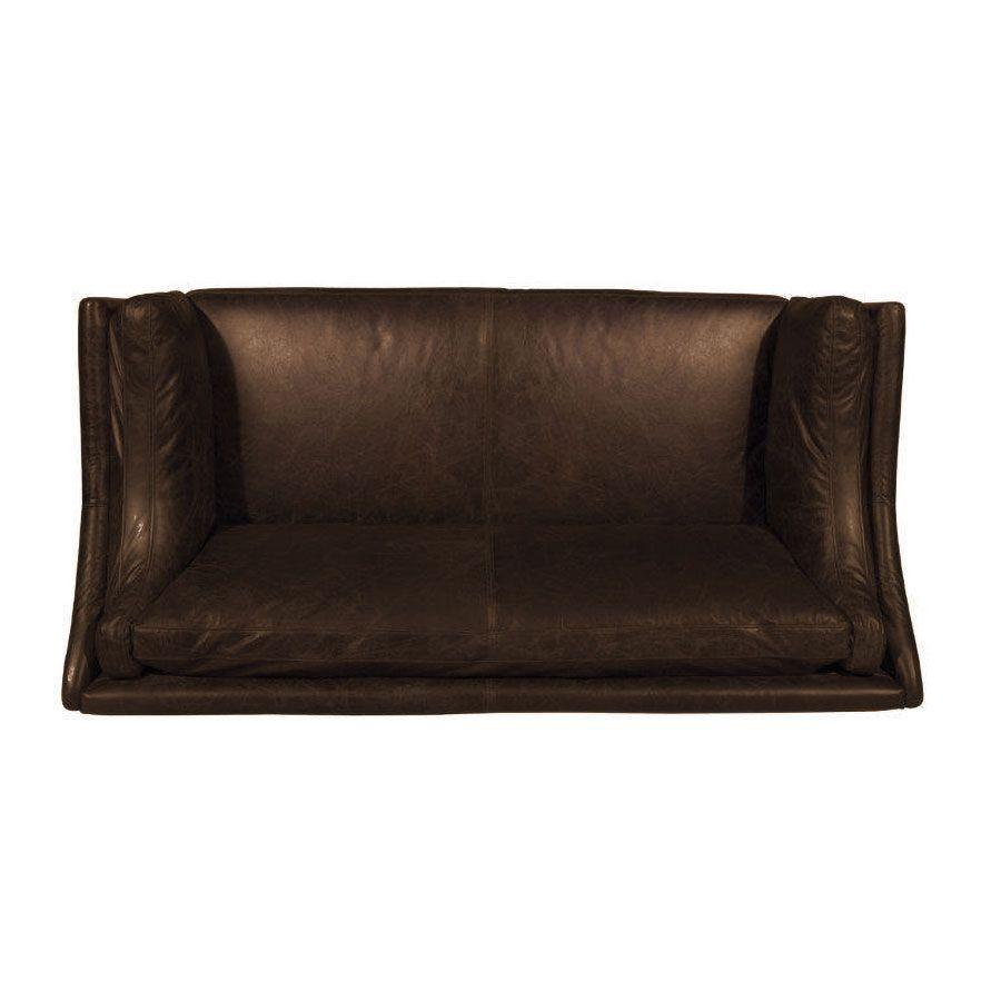 Canapé en cuir 3 places Marron Riders Cocoa - Darwin