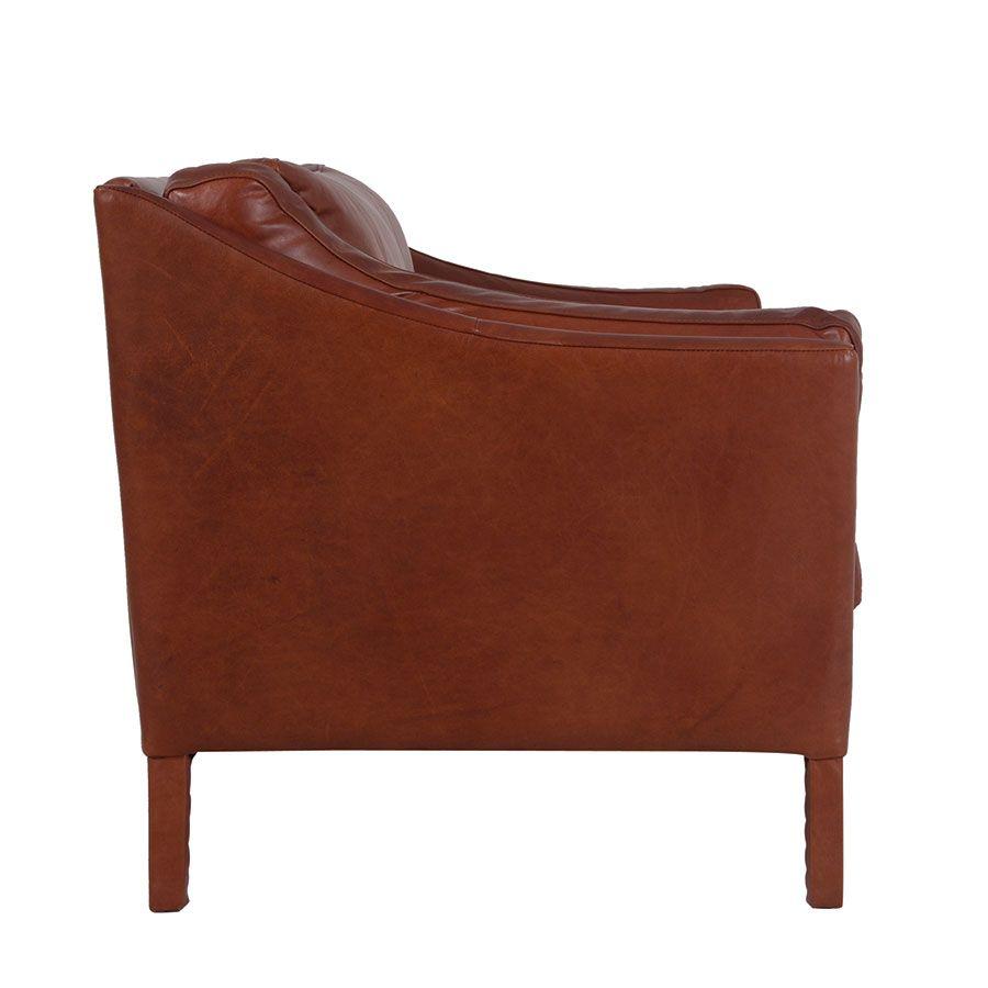 Canapé en cuir marron riders mocha 3 places - Darwin