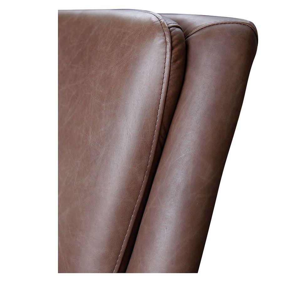 Fauteuil en cuir marron - Harvard
