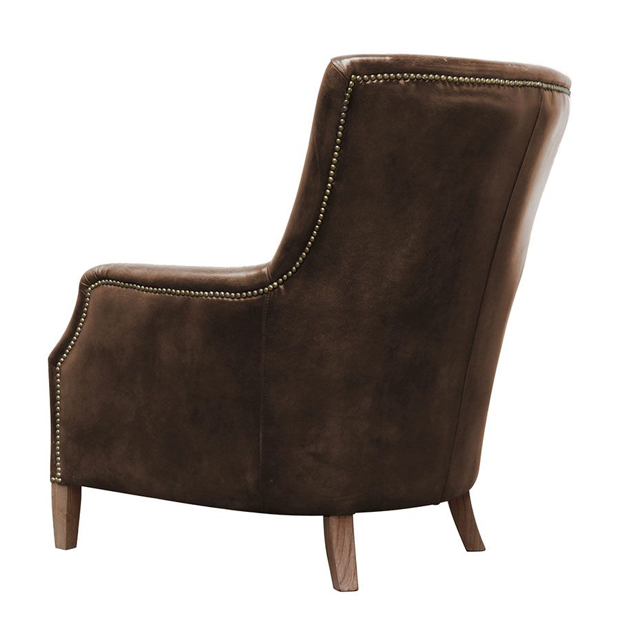 Fauteuil en cuir marron Original Vintage Coffee- Harvard