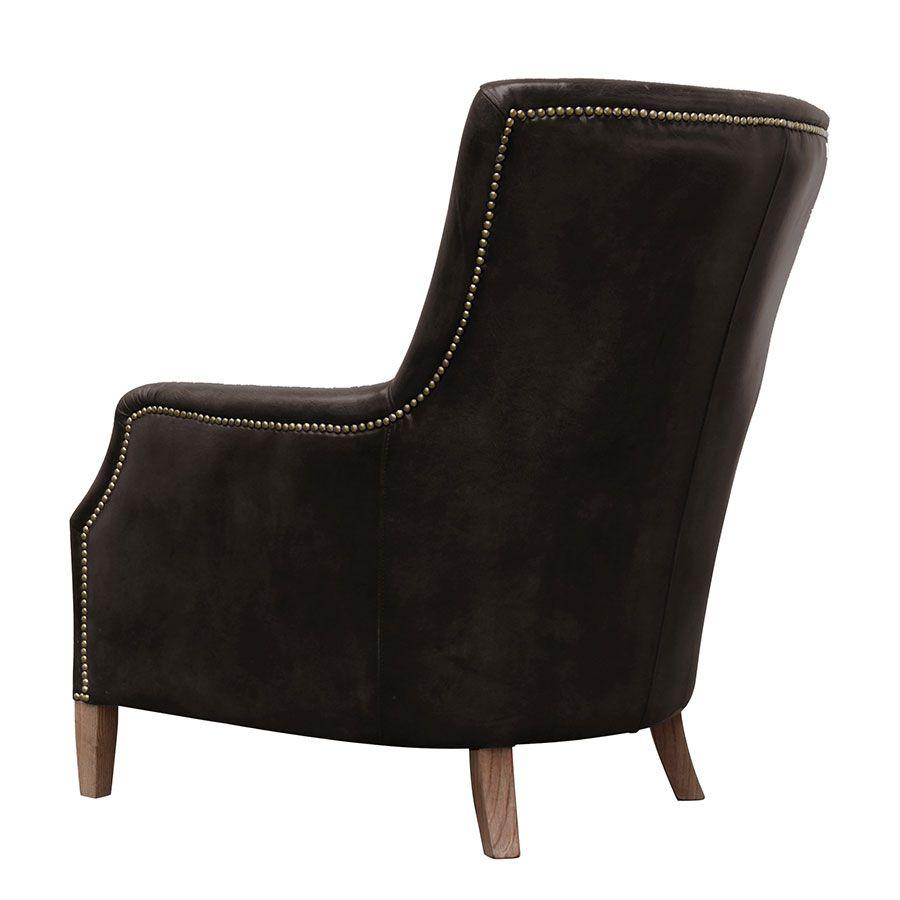 Fauteuil en cuir marron Original Vintage Expresso - Harvard