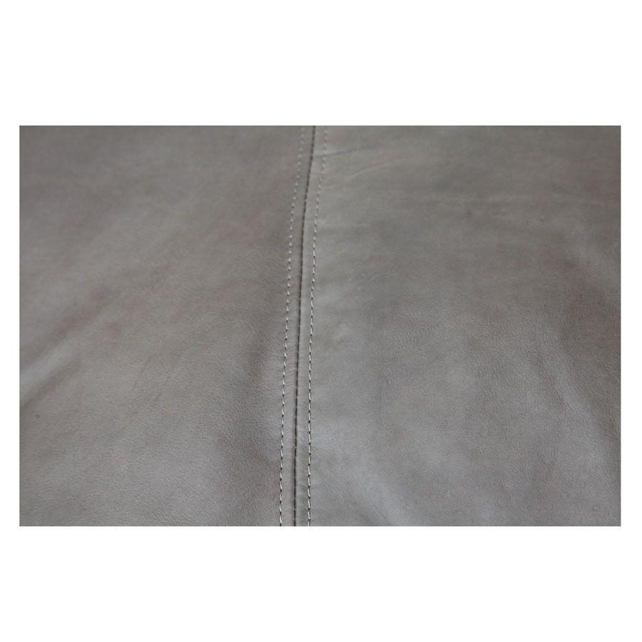Canapé en cuir gris 2 places - Stanford