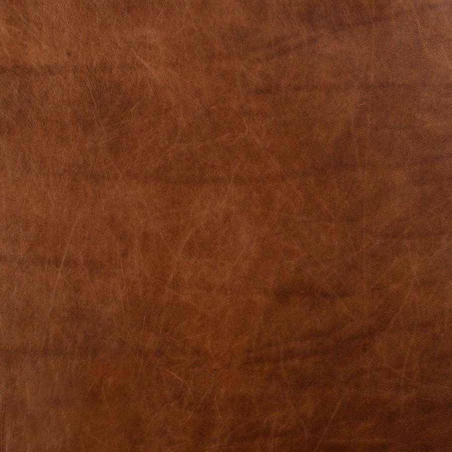 Canapé en cuir 3 places marron Riders Nut - Stanford