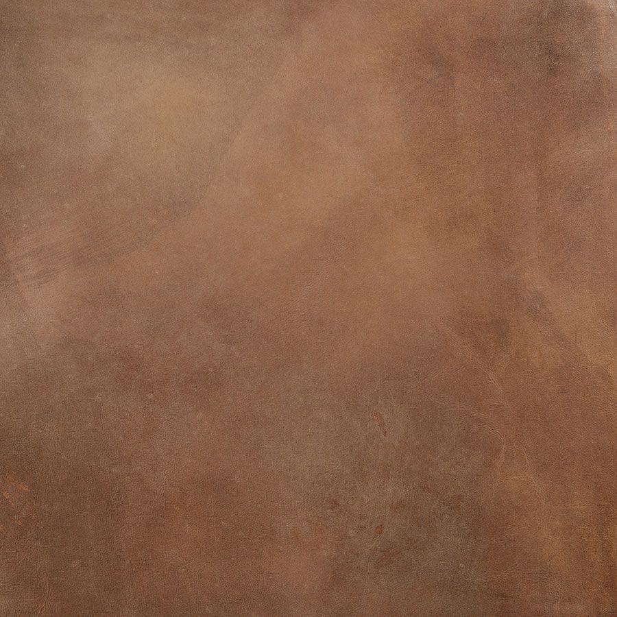 Canapé en cuir 3 places marron Destroyed Raw - Stanford