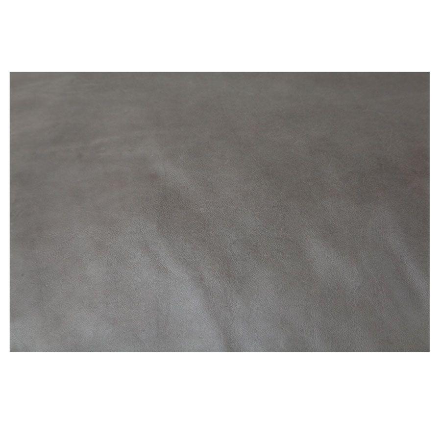 Méridienne en cuir gris - Stanford