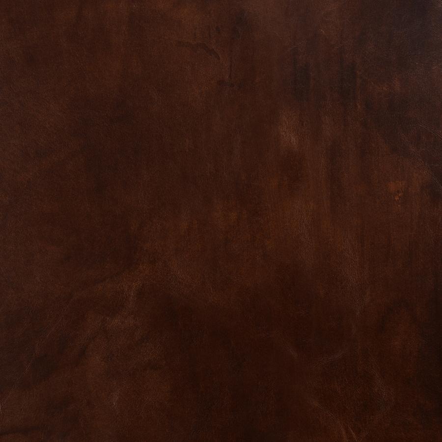 Fauteuil club en cuir marron et tissu rétro - Yale