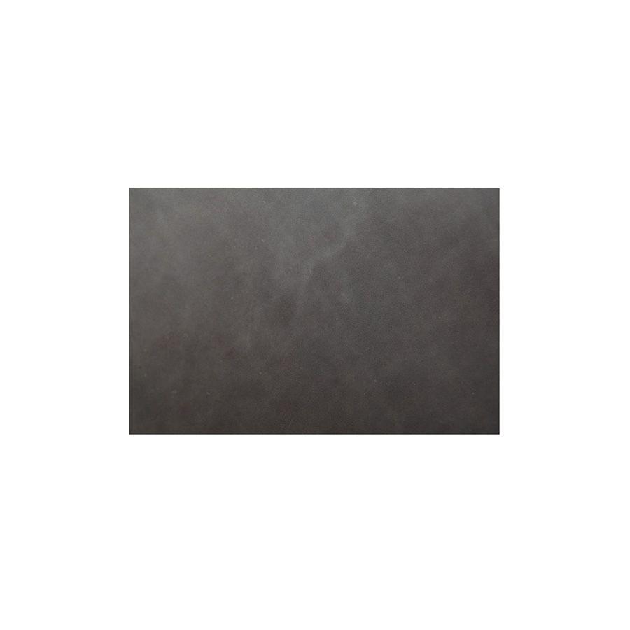 Fauteuil club en cuir gris - Yale