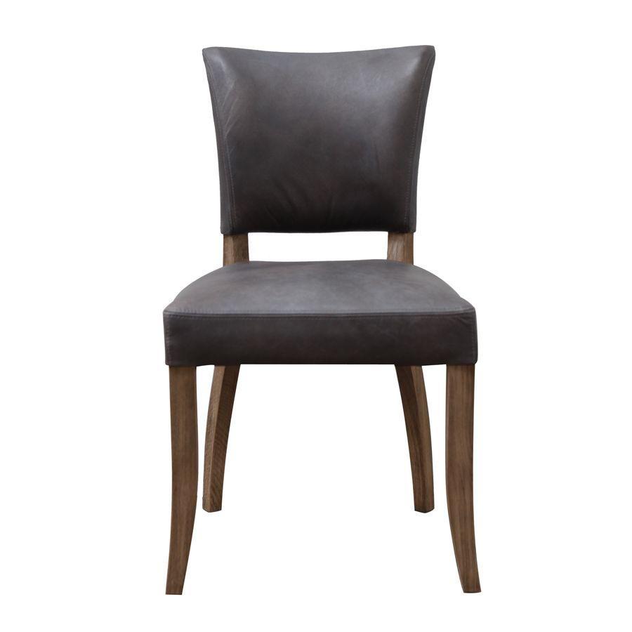 Chaise en cuir - Coleen (lot de 2)