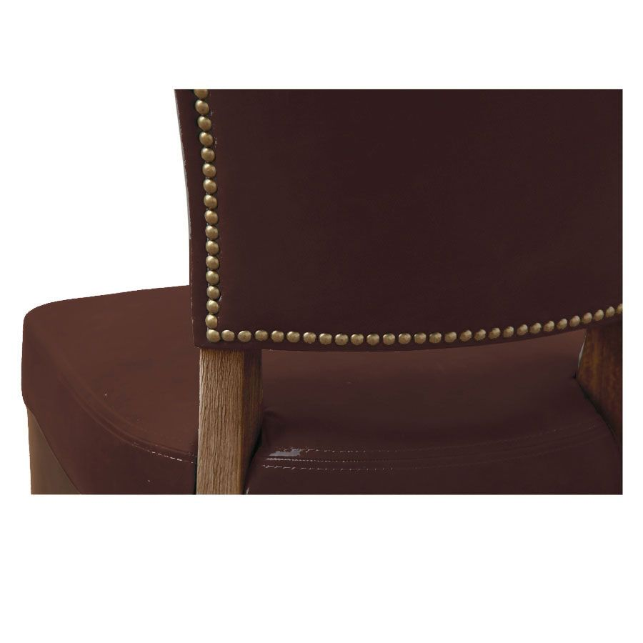 Chaise en cuir Marron Riders Mocha - Coleen (lot de 2)