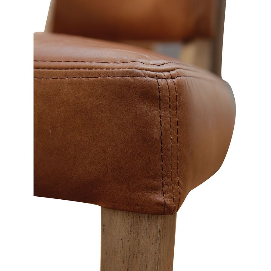 Chaise en cuir Marron Riders Nut - Coleen (lot de 2)