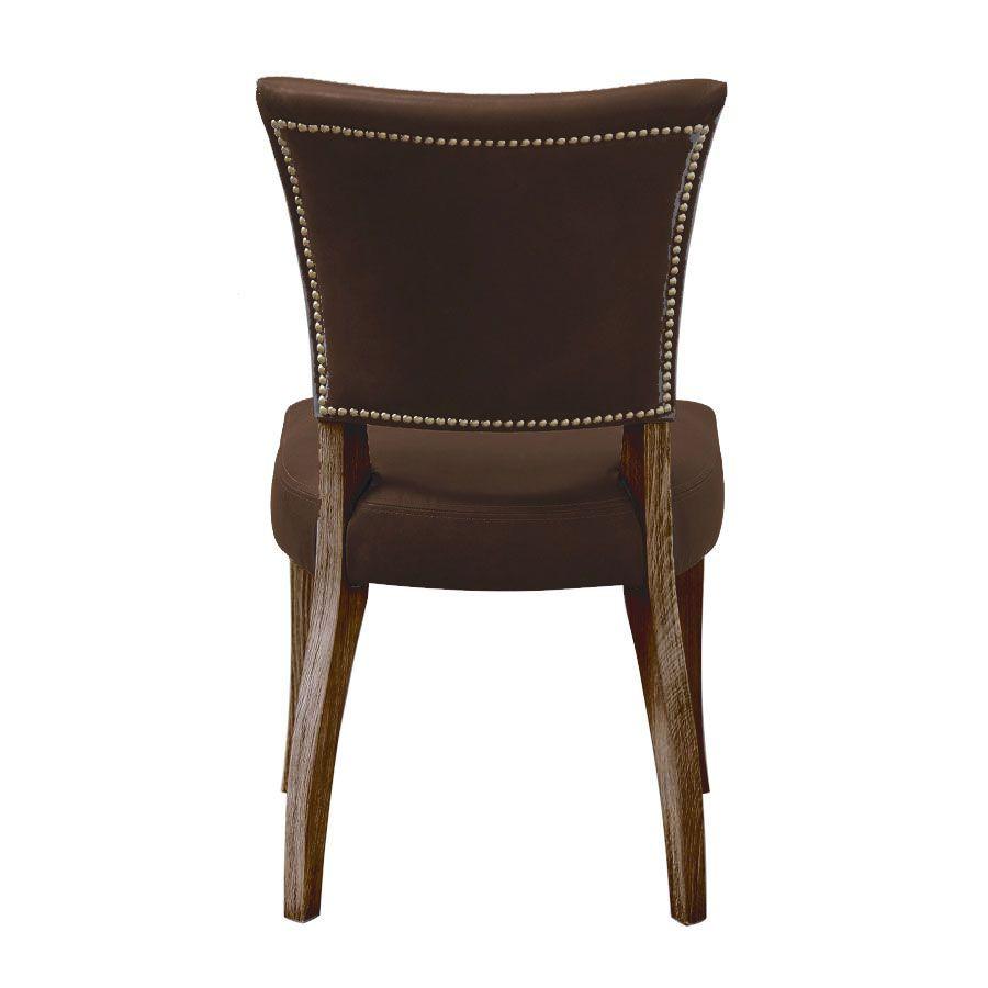 Chaise en cuir Marron Destroyed Raw- Coleen (lot de 2)
