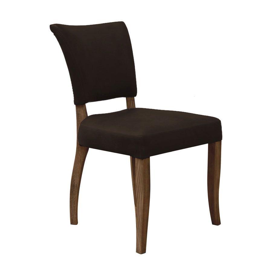 Chaise en cuir Noir Riders Black - Coleen (lot de 2)