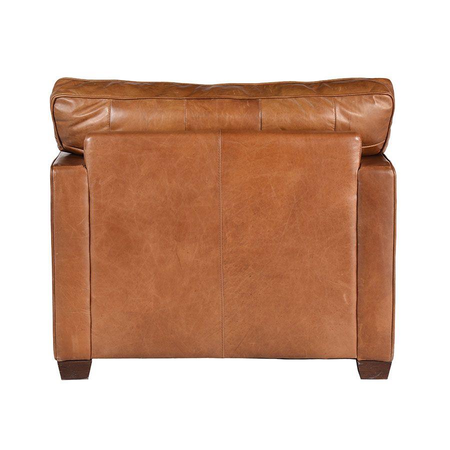 Fauteuil en cuir marron - Hastings