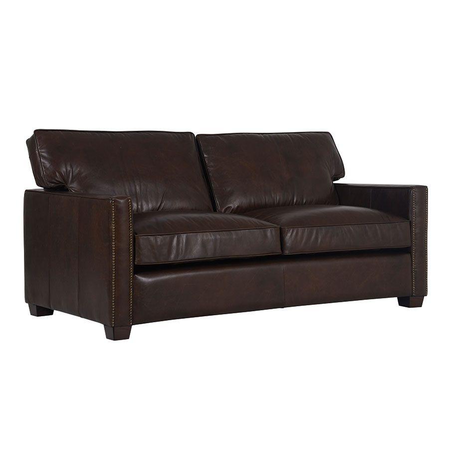 Canapé 2 places en cuir marron - Hastings